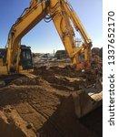 construction site foundation...   Shutterstock . vector #1337652170