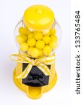 Yellow Gumball Machine - stock photo