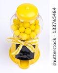 Yellow Gumball Machine - stock photo