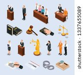 law justice court characters... | Shutterstock .eps vector #1337655089