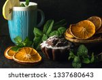 homemade chocolate cake with... | Shutterstock . vector #1337680643