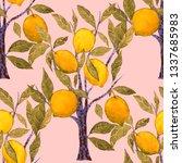 watercolor seamless pattern... | Shutterstock . vector #1337685983