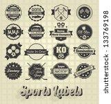 vector set  vintage sports... | Shutterstock .eps vector #133769198