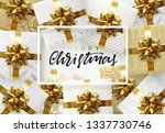 christmas background. design... | Shutterstock . vector #1337730746