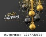 christmas greeting card  design ...   Shutterstock . vector #1337730836