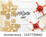 christmas background with gifts ... | Shutterstock . vector #1337730860
