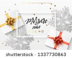 christmas background with gifts ... | Shutterstock . vector #1337730863