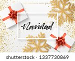 christmas background with gifts ... | Shutterstock . vector #1337730869
