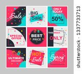 sale social media posts mockups ... | Shutterstock .eps vector #1337733713