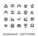 simple set of playground... | Shutterstock .eps vector #1337744300