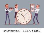 time management giant clocks... | Shutterstock .eps vector #1337751353