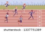businessmen running at business ... | Shutterstock .eps vector #1337751389