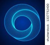 mobius strip ring sacred... | Shutterstock . vector #1337752400