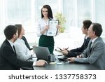 young business woman in a... | Shutterstock . vector #1337758373