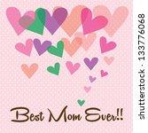 happy mothers day vector...   Shutterstock .eps vector #133776068