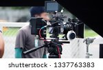 video camera in film or movie... | Shutterstock . vector #1337763383