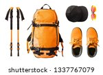 flat lay of sport equipment and ... | Shutterstock . vector #1337767079