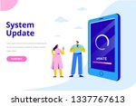 system update vector... | Shutterstock .eps vector #1337767613