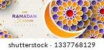 ramadan kareem horizontal... | Shutterstock .eps vector #1337768129