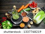 organic food. variety of... | Shutterstock . vector #1337768219