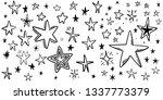 hand drawn stars pattern...   Shutterstock .eps vector #1337773379