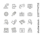 mass media related icons  thin... | Shutterstock .eps vector #1337774753
