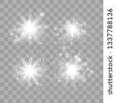 white glowing light set... | Shutterstock .eps vector #1337788136