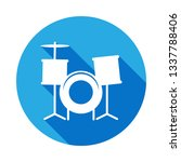 drums icon with long shadow....