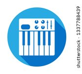 synthesizer icon with long...