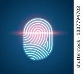 finger print scanning... | Shutterstock . vector #1337794703