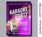 karaoke poster vector. retro...   Shutterstock .eps vector #1337797280