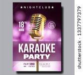 karaoke poster vector. party...   Shutterstock .eps vector #1337797379