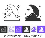 moon with cloud and star black... | Shutterstock .eps vector #1337798459
