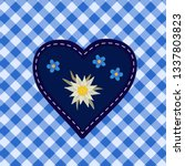 hand drawn edelweiss flower ... | Shutterstock .eps vector #1337803823