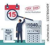 tax payment. businessman... | Shutterstock .eps vector #1337806409