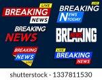 set banner for breaking news... | Shutterstock .eps vector #1337811530