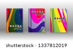 abstract cover with wave... | Shutterstock .eps vector #1337812019