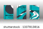 abstract cover with liquid... | Shutterstock .eps vector #1337813816