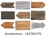 collection of various  empty... | Shutterstock . vector #133781570