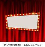 realistic retro cinema... | Shutterstock . vector #1337827433