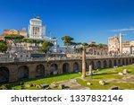ruins of the roman forum in...   Shutterstock . vector #1337832146