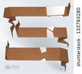 cardboard infographic banners....   Shutterstock .eps vector #133783280