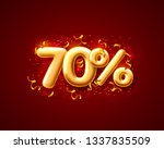 sale 70 off ballon number on... | Shutterstock .eps vector #1337835509
