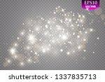 Gold Light Glow Effect Stars...