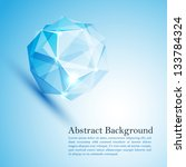 cristal ice. vector... | Shutterstock .eps vector #133784324