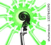 illustration violin heads for... | Shutterstock .eps vector #1337843390