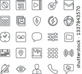 thin line icon set   call...