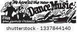 dance music   retro ad art... | Shutterstock .eps vector #1337844140