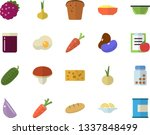 color flat icon set colander...