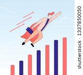 superhero or super employee... | Shutterstock .eps vector #1337850050